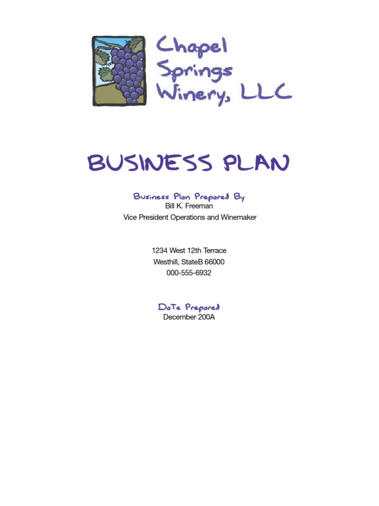Winery business plan winery wine cheaphphosting Choice Image