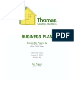 Custom Builders Business Plan