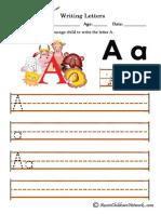 Alphabet animals. Letter A