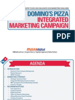 Integrated Marketing Campaign Proposal for Domino's Pizza (Powerpoint Deck)