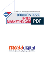 Integrated Marketing Campaign Proposal for Domino's Pizza (Proposal / Leave Behind)