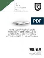Metodos de Enseñanza Que Se Usan en Guatemala - William Molina