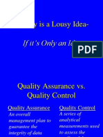 Basic Principles of Quality Control