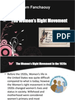 The Women's Right Movement