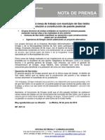 NP. 047-14 Emape Continuará Mesa de Trabajo Con Municipio de San Isidro Para Buscar Solución a Construcción de Puente Peatonal