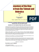 A Commentary of the New Testament from the Talmud and Hebraica