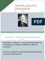 1.Fundamentul Cultural Al Personalităţii \