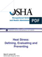 OSHA Heat Stress Training