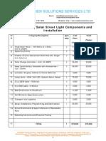 1 Unit Solar Street Light Pricing
