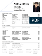 vocal resume january 2014