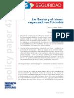 BACRIM y Crimen Organizado en Colombia