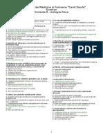 Simulare 2014 UMF Bucuresti Correct 6 Biologie-fizica