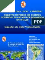 Fenomenologia y Registro Historico de Desastres