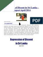 Repression of Dissent in Sri Lanka - InFORM Report April 2014