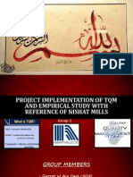 Project Implementation of TQM and Empirical Study (1)