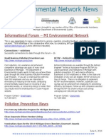 Michigan Environmental Network News - June 4, 2014