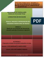 PROPUESTA DE INTERVENCION DEL FENOMENO MIGRATORIO
