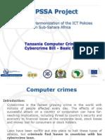 Cybercrime Bill-tanzania Stakeholder 2013