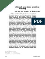 Rules of Five Primer on Clinical Acid-base Problem Solving