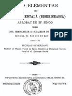 Severeanu Gramatica Muzicii Psaltice Buzau 1900 Ed1