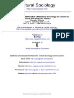 Chandra Mukerji-Historical Sociology of Culture of Cultural Sociology of History