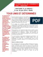 20140604 Appel a La Greve Unitaire 10 Juin
