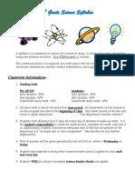 6th gr science syllabus 14