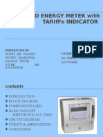 Prepaid energy meter with terriffe indicator