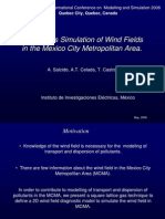 Lattice Gas Wind Field Model