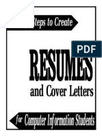 6 Steps to Create Resumes & Coverletters for Computer Info Students