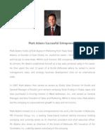 Mark Adams Successful Entrepreneur