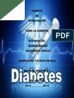 Investigacion de La Diabetes(Glenda Rosado y Alexandra Criollo)