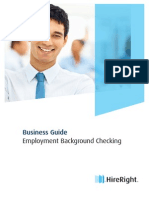 Business Guide Employment Background Checking