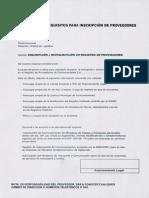 Inscripción de Proveedores de ENOSA
