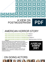 A View on Postmodernism SJG
