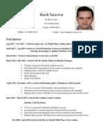 Harsh Saraswat CV