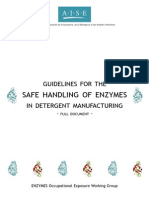Guidelines for the Safe Handling of Enzymes in Detergent Manufacturing