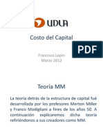5 Costo de Capital - Teoria MM