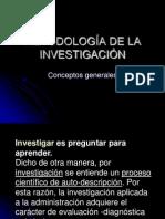 Metodología de Investigación Generalidades