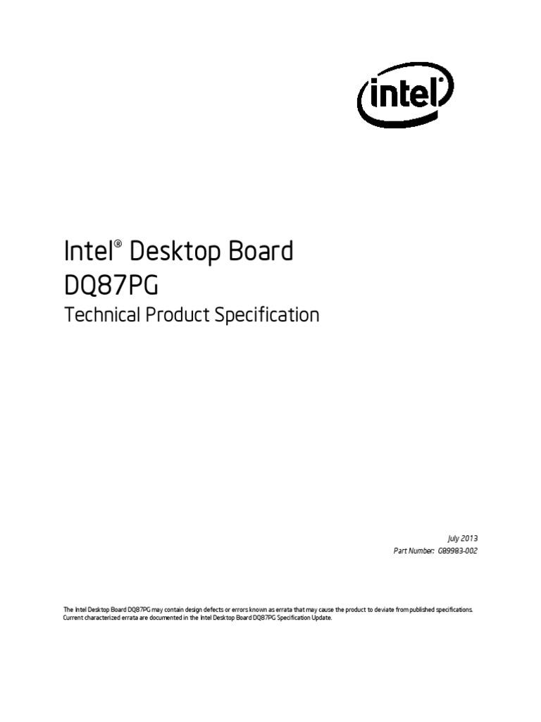 Intel Desktop Board DQ87PG LGA1150 DDR3 micro-ATX I//O SHIELD AND FAN INCLUDED