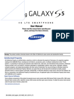 AT&T Samsung Galaxy S5 User Manual SM-G900A, Kitkat, English