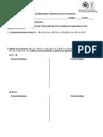 Practica de Operaciones Con Conjuntos Sexto Grado 2014