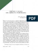 El Ocaso Del Ejercito Porfiriano de Alicia Hernandez Chavez