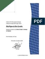 Certificado FGV - 5 Horas - Curso de Direito Do Trabalho