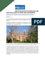 Cuando las administraciones se deshacen del patrimonio para no tener que mantenerlo (Eldiario.es - 01/06/2014)