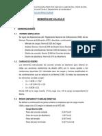 Memoria Calculo Estructuras Ie Pedro Ruiz Gallo Eten