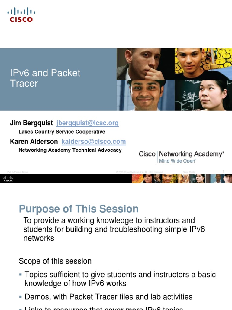 IPv6 and Packet Tracer | I Pv6 | Communications Protocols