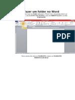 Como Fazer Um Folder No Word