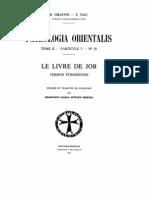 Patrologia Orientalis Tome II - Fascicule 5 - No. 10 - Le livre de Job Version ethiopienne