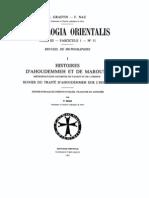 Patrologia Orientalis Tome III - Fascicule 1 - No. 11 - Histoires d'Ahoudemmeh et de Marouta
